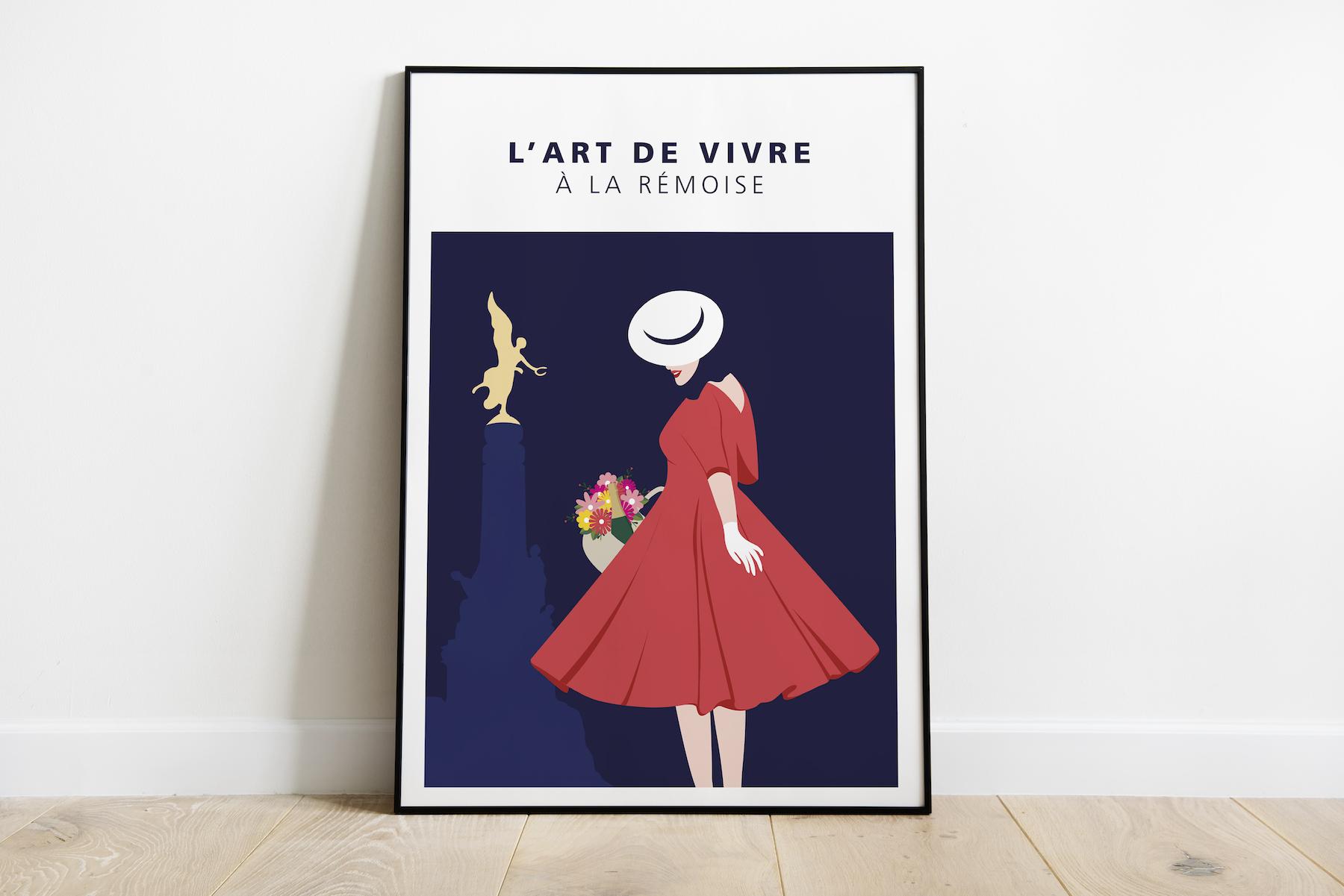 Art de vivre - femme robe rouge